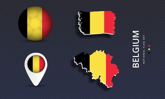 Реалистичные флаг страны набор векторные иллюстрации
