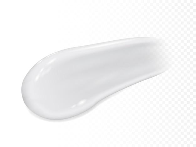 Реалистичный мазок крема на прозрачном фоне
