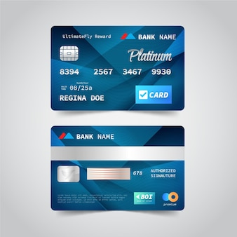 현실적인 신용 카드 디자인