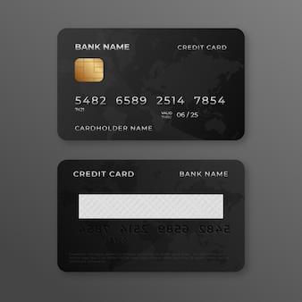 Realistic credit card design