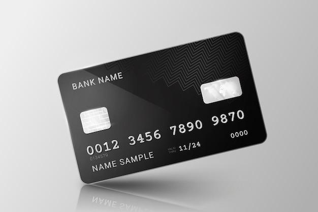Реалистичный дизайн кредитной карты