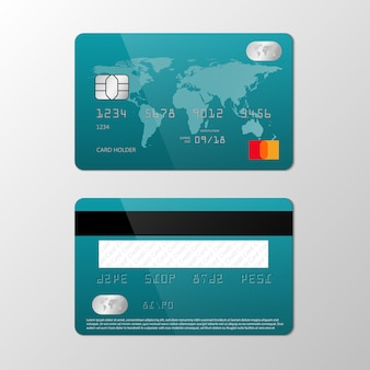 Realistic credit card   template