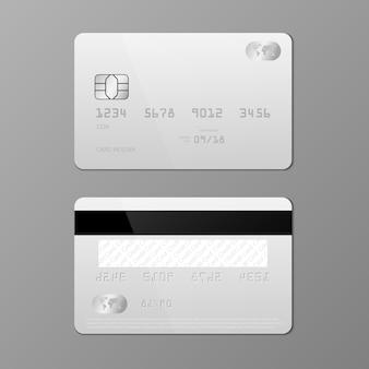 현실적인 신용 카드 템플릿
