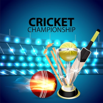 Realistic cricket championship tournament background