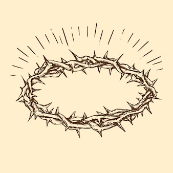 Realistic crown of thorns design