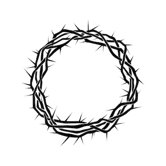 Realistic crown of thorns