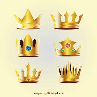 Realistic crowns with variety of designs