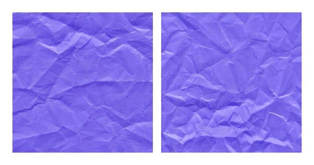 현실적인 구겨진된 파란색 종이 질감 배경 세트