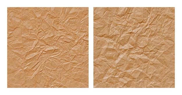 Реалистичные мятой коричневой бумаги текстуры фона набор