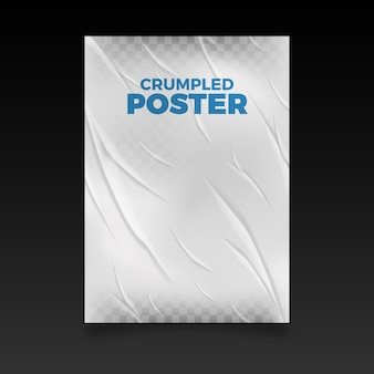 Realistic crumpled poster effect