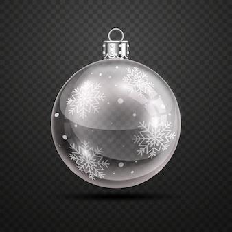Realistic crystal christmas ball