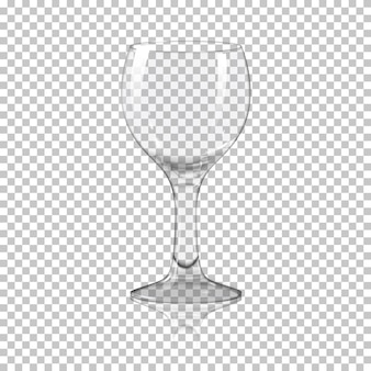 Realistic crystal glass illustration
