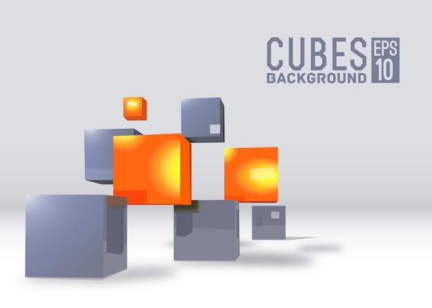 Реалистичные кубики фон концепция