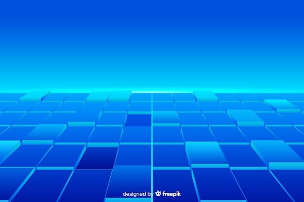 Realistic cubes floor background
