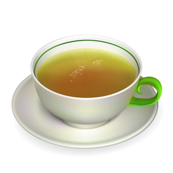 Realistic cup of tea illustration contains gradient mesh.