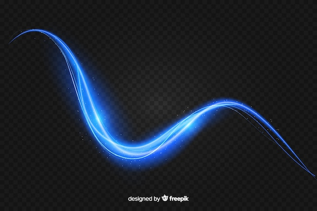 Realistic curve light effect background