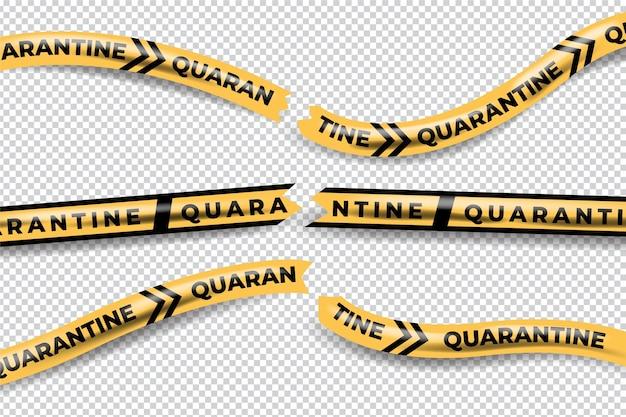 Realistic cut quarantine tape concept