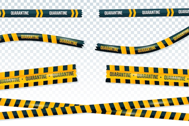 Realistic cut quarantine tape