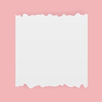 リアルなカット破れた紙のベクトル図です。 eps10