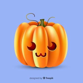 Realistic cute halloween pumpkin