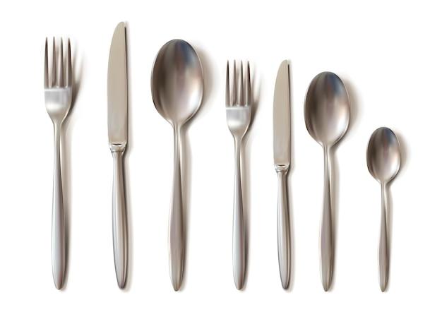 Realistic cutlery set