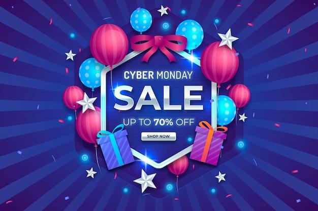 Sfondo di vendita cyber lunedì realistico