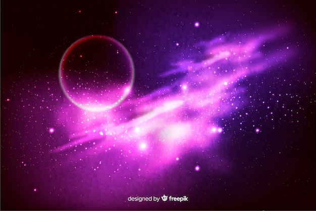Realistic dark abstract galaxy background