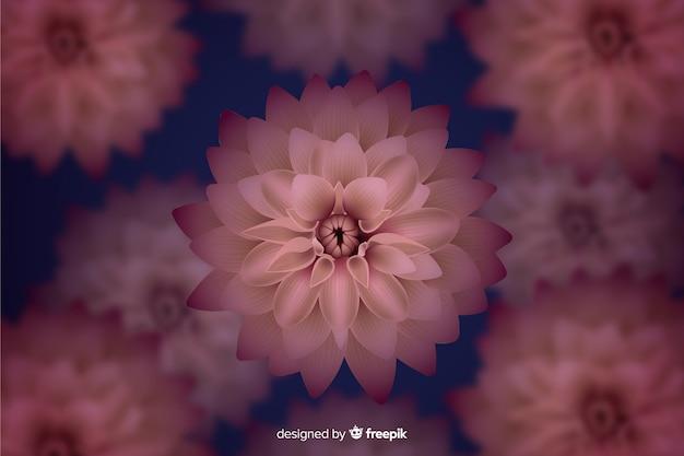 Realistico sfondo floreale scuro