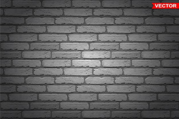 Realistic dark gray brick wall texture background