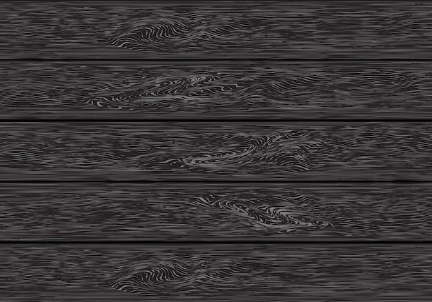 Realistic dark grey wood plank pattern background vector.