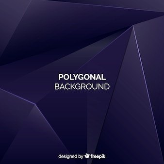 Realistic dark polygonal background
