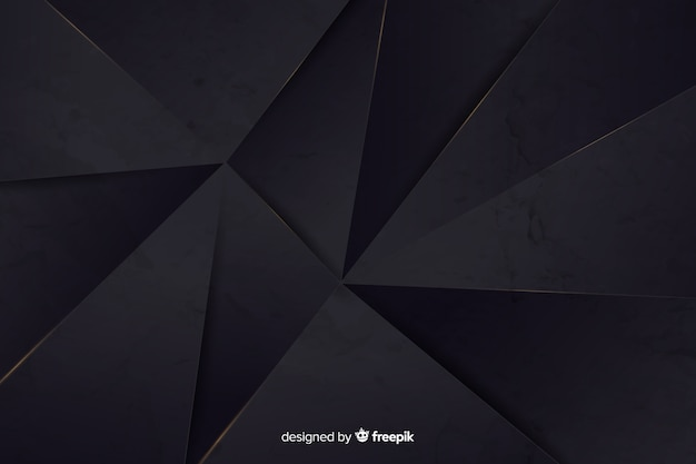 Realistic dark polygonal background