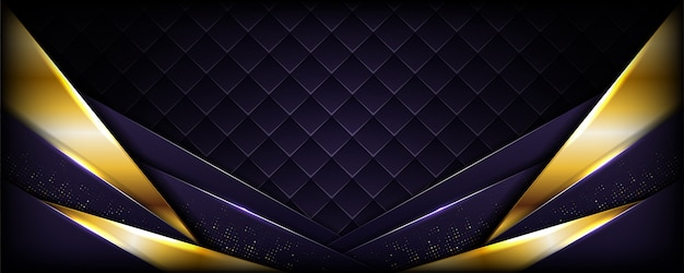 Realistic dark purple with golden line textured background