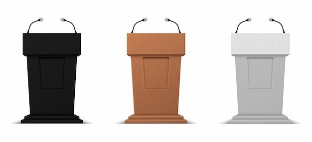Realistic debate stage illustration