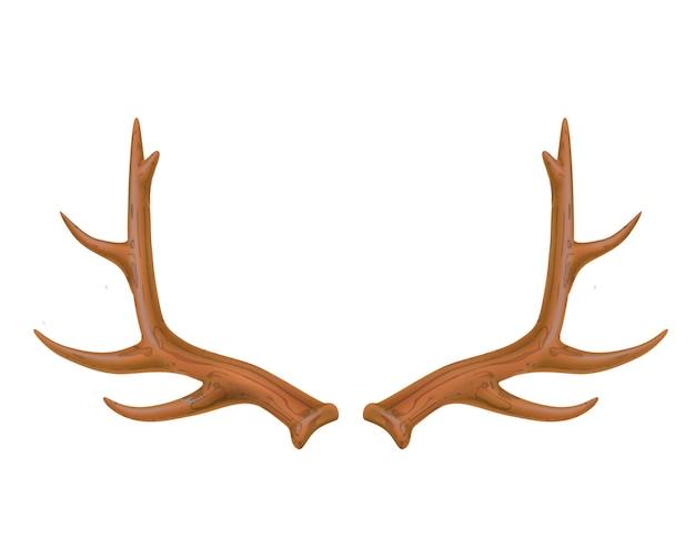 クリスマスのための現実的な鹿の角