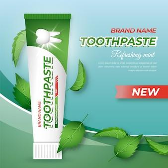 Promozione realistica per la cura dei denti