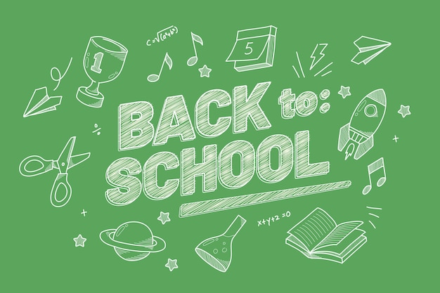 Realistic design back to school background