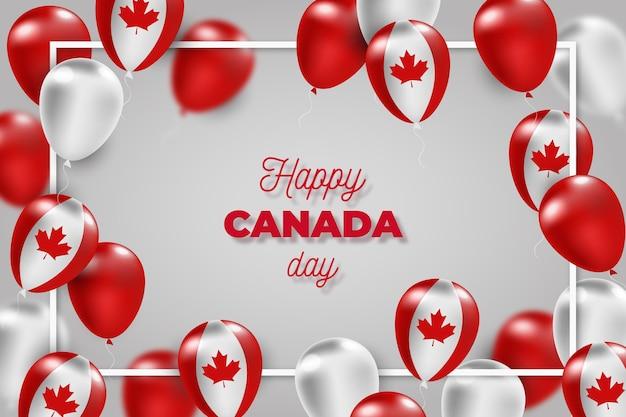 Реалистичный дизайн канадский день фон