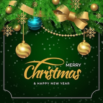 Realistic design christmas background