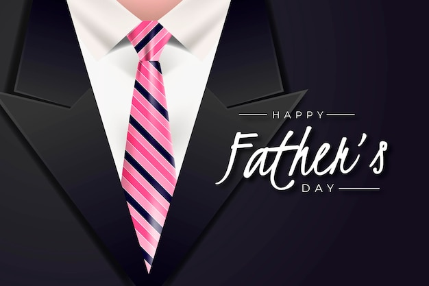 Realistic design father's day suit