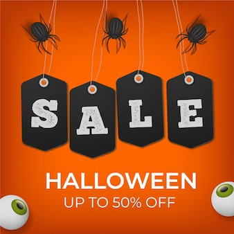 Realistic design halloween sale