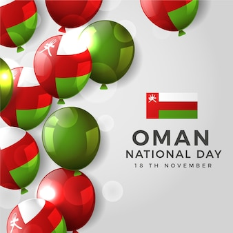 Realistic design national day of oman