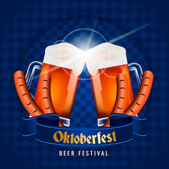 Realistic design oktoberfest celebration