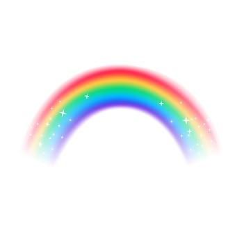 現実的なデザインの虹