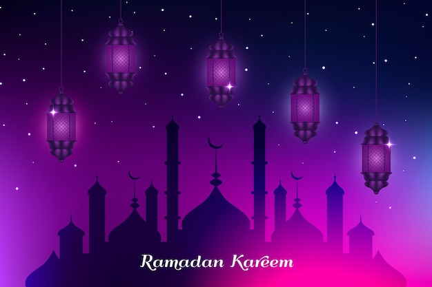 Realistic design ramadan celebration