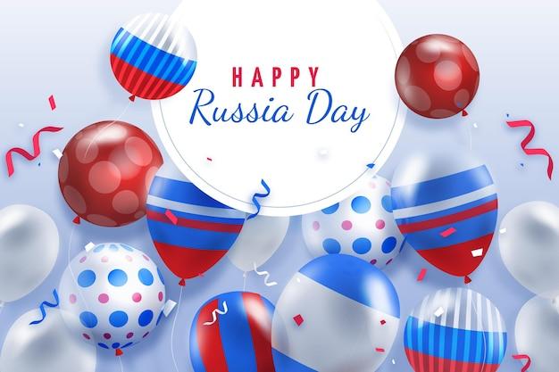 現実的なデザインのロシアの日の背景