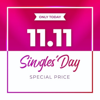 Realistic design singles' day