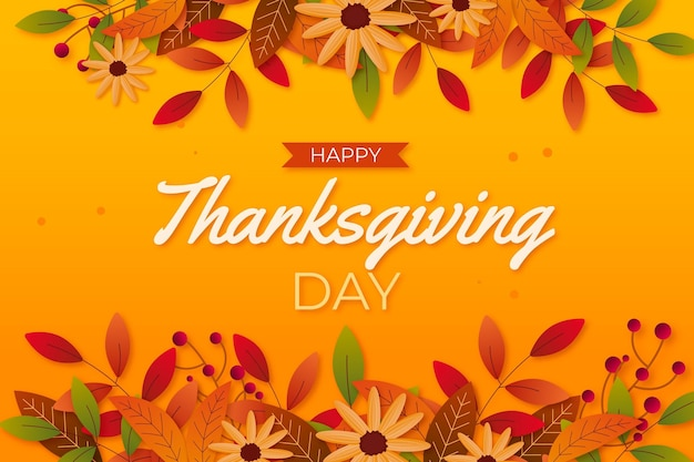 Realistic design thanksgiving background