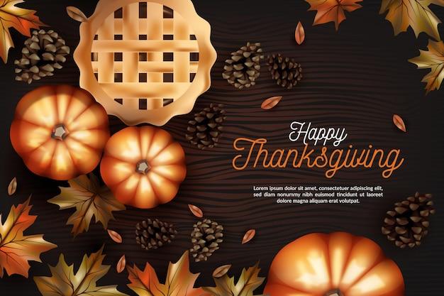 Реалистичный дизайн фона благодарения