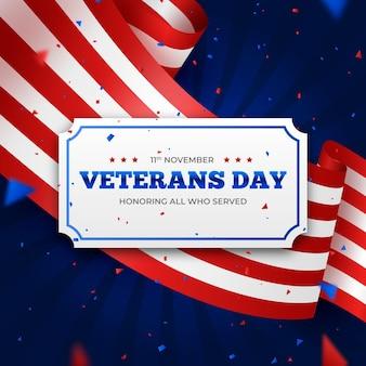 現実的なデザインの退役軍人の日のお祝い